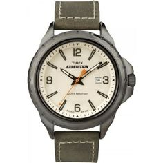 Shop for Timex Men's Expedition Rugged Field Olive Green Leather Strap Watch. Get free delivery On EVERYTHING* Overstock - Your Online Watches Store! Best Kids Watches, Cool Watches, Watches For Men, Elegant Watches, Stylish Watches, Luxury Watches, Rugged Watches, Timex Expedition, Field Watches
