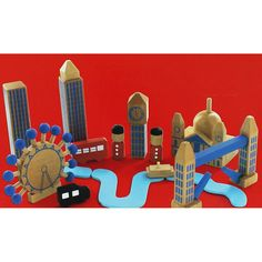 Build Your Own Wooden City - London Playset Build Your Own, London City, Christmas 2017, Wooden Toys, Bookends, It Works, Range, Building, Home Decor