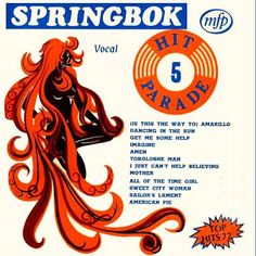 Springbok: Springbok Hit Parade Volume 01 To 30 Lp Cover, Vinyl Records, Album Covers, Nostalgia, Memories, Music Music, Lps, Cape Town, Texts