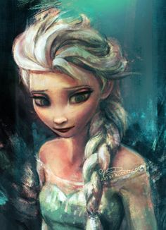 #Frozen Elsa and yes, this story is based off a Scandinavian tale so it counts!