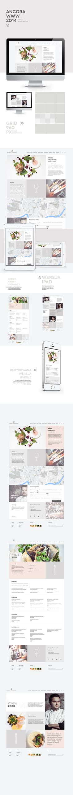 Ancora Restaurant Website by Jarek Nakielny, via Behance