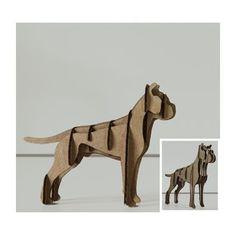 puzzle 3d animali 3d Laser, Laser Cut Wood, Laser Cutting, Cardboard Deer Heads, Cardboard Animals, Cardboard Sculpture, Cardboard Crafts, Cardboard Chandelier, Sliceform