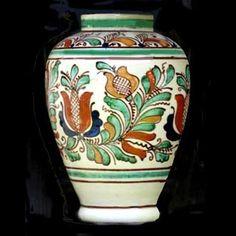 Romania Pottery, Keramik, Ceramique, Ceramica: Transylvania: Korund, Corond… Pottery Vase, Ceramic Pottery, Ceramic Art, Vintage Beauty, Flower Pots, Vector Art, Vintage Shops, Folk Art, Travel Inspiration