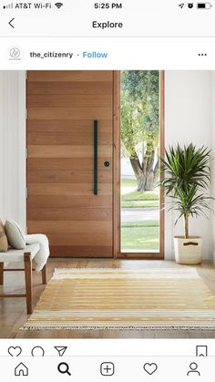 Urban Industrial Decor Tips From The Pros Have you been thinking about making changes to your home? Modern Entrance Door, Modern Front Door, House Front Door, House Doors, House Entrance, Entrance Doors, Front Door Entry, Wooden Front Door Design, Modern Exterior Doors