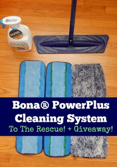 The floor isn't going to clean itself, but it can be cleaned quick! Check out the Bona PowerPlus Cleaning Kit to the rescue plus a great sweepstakes! (sponsored) #PowerPair