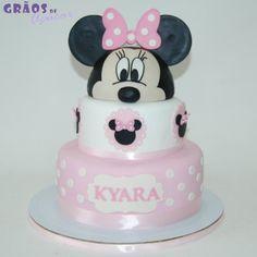 Minnie - Orelhas - Grãos de Açúcar - Bolos decorados - Cake Design