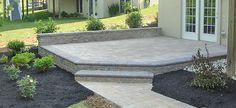 61 ideas for raised patio steps outdoor living Car Porch Design, Small Patio Design, Small Backyard Patio, Pergola Patio, Diy Patio, New Patio Ideas, Porch Ideas, Outdoor Ideas, Round Patio Table