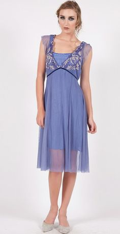 163 Periwinkle Nataya Flower Dress
