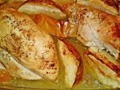 Vajon sült mézes - citromos csirkemell almával karamellizálva   Iby Meszarosova receptje - Cookpad receptek Meat Recipes, Turkey, Chicken, Food, Turkey Country, Essen, Meals, Yemek, Eten