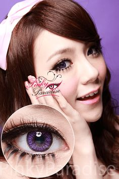Venus Eye Violet Circle Lenses (Colored Contacts)