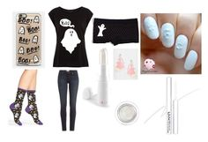 """""""Ghost"""" by fluffydoggy ❤ liked on Polyvore featuring Casetify, HOT SOX, Suzywan DELUXE, Paige Denim and Exude"""