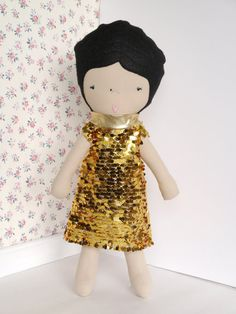 Handmade fabric doll  by ohbAbyseattle