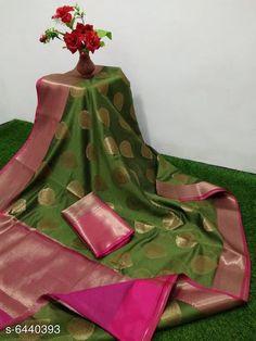 Sarees Classy Women Saree Saree Fabric: Banarasi Cotton Blouse: Running Blouse Blouse Fabric: Banarasi Cotton Pattern: Woven Design Multipack: Single Sizes:  Free Size (Saree Length Size: 6.3 m) Country of Origin: India Sizes Available: Free Size   Catalog Rating: ★4 (448)  Catalog Name: Kashvi Sensational Sarees CatalogID_1024777 C74-SC1004 Code: 438-6440393-7422