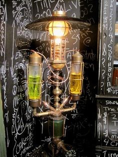 "SteamPunk Labratory Lamp.....A.K.A.  ""The Elixer of Light"""