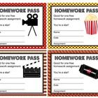 Give out these movie homework passes to reward your students for their hard work. They would go great with a movie or Hollywood theme classroom.The passes measure inches and there are four different background designs.Just print on 8 x 11 copy paper. 4th Grade Classroom, Classroom Themes, Teacher Resources, Teacher Pay Teachers, Class Incentives, Hollywood Theme Classroom, Homework Pass, Too Cool For School, School Stuff