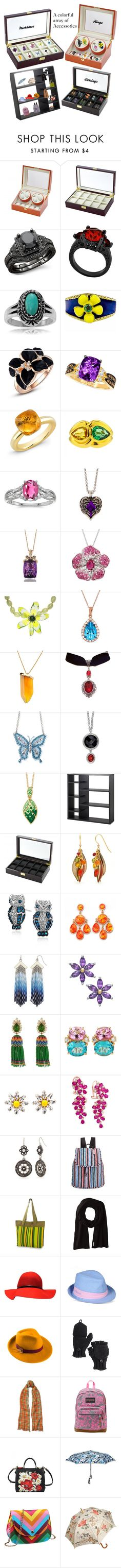 """""""A is for Accessories"""" by pinky-dee ❤ liked on Polyvore featuring Allurez, Journee Collection, LE VIAN, BillyTheTree, claire's, LeVian, Amanda Rose Collection, Chanel, Kenneth Jay Lane and Tarina Tarantino"""