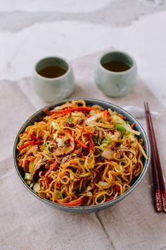 Chicken Yakisoba, by thewoksoflife.com