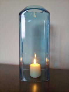 Bombay Sapphire gin bottle hurricane lamp by DesertShanty on Etsy, $20.00