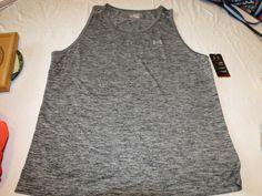 Under Armour UA active heatgear Mens tank top shirt XXL loose 1242793 greys 003 #UnderArmour #tanktop