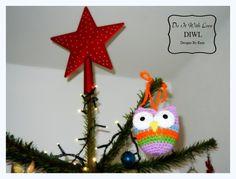 Crochet Pattern - Christmas Dekoration little Owl  ❤Weihnachtsschmuck Eule Häkelanleitung❤  von  DO IT WITH LOVE auf DaWanda.com