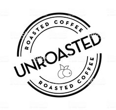 UnRoasted  raw Coffee round labels on coffee bean on white background royalty-free unroasted raw coffee round labels on coffee bean on white background stock vector art & more images of canada