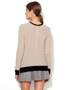 Colorblock Cable Knit Sweater by Autumn Cashmere at Gilt