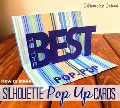 Basic Silhouette Pop Up Card Tutorial (Free .Studio Pop Up Template)