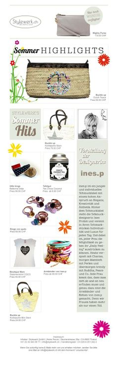 Our Summer Newsletter, with so many cool summer stuff. Enjoy @ www.stylewerk.ch