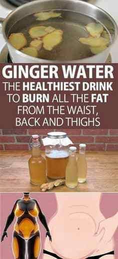 Ginger Water The Healthiest Drink To Burn All The Fat From The Waist, Back And Thighs! Learn all the amazing benefits of ginger water to lose weight and burn the most difficult fats in the body. Healthy Drinks, Get Healthy, Healthy Tips, Healthy Detox, Easy Detox, Healthy Recipes Dinner Weightloss, Smoothies Healthy Weightloss, Healthy Beauty, Healthy Nutrition