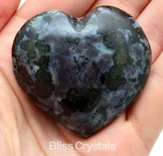 RARE 68gm MERLINITE HEART Mystic Polished Stone by BlissCrystals