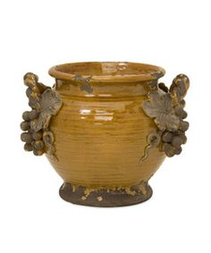 Tuscan Italia Olive Jar Double Handle Vase/Planter