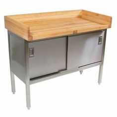 John Boos, Stainless Steel Enclosed Table  #kitchensource #pinterest #followerfind