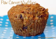 Not only are we #hidingveggies in the form of carrots in these muffins, but we're also boosting the nutrients with flaxmeal, apples, oat flour, and dried cranberries!  Super Healthy Kids.