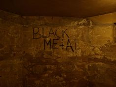 Black metal - graffity in euronymous' basement - Early Norwegian black metal…