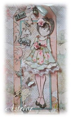 Prima Mixed Media Doll Stamp | Prima Dolls