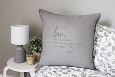 Unique handprinted gift for Valentine, an anniversary, a birthday, simply show your love, or as wedding decor Colorful Interior Design, Orange Interior, Modern Colors, Valentine Gifts, Gray Color, Things To Think About, Anniversary, Throw Pillows, Love