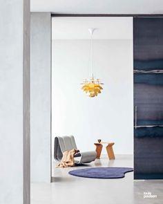 PH Artichoke Brass Ø600 • Design by Poul Henningsen. Artichoke, Scandinavian, Brass, Living Room, Simple, Interior, Modern, Design, Lily