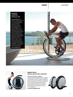 Get a vigorous cardio workout by the pool or beach without worrying about rust damage by riding this Ciclotte carbon fiber bike. This minimalist inspired bike is designed with components that stand up to atmospheric agents – making it ideal for outdoor use.