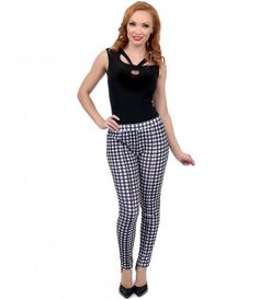 There's nothing more pleasant than a plaid, dolls! A luxuriously comfortable black and white pair of plaid pants crafted...Price - $49.00-eG85tEkI