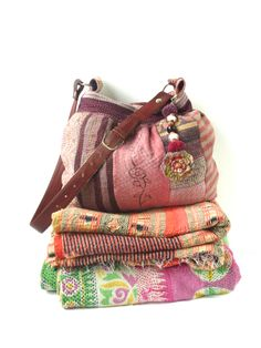 kantha quilt patchwork bag