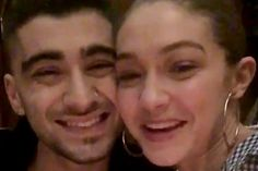 Zayn Malik and Gigi Hadid Thank Fans for iHeartRadio Video Win — with a Kiss!