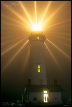 Every year (almost) in November, for one night only, they light the Pigeon Point Lighthouse on the San Mateo County coast near San Francisco, California, using the original Fresnel lens. How neat! Love to see it!