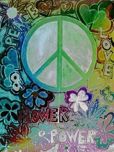 """Flower Power"" ✌Peace Sign  ""Peace & Love"" #cGreens #cBlues"