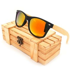 e3eab1f051a BOBO BIRD High Quality Vintage Black Square Sunglasses With Bamboo Legs  Mirrored Polarized Summer Style Travel Eyewear Wood Box