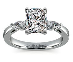 Radiant Marquise Diamond Engagement Ring in Platinum  http://www.brilliance.com/engagement-rings/marquise-diamond-ring-platinum-1/3-ctw
