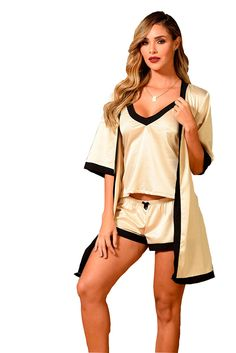 Color Beige, Color Negra, Tops, Women, Fashion, Babydoll Sheep, Plunging Neckline, Blouse, Black Jean Shorts