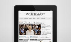 Weekendavisen – iPad Newspaper by Marcus Fuchs, via Behance