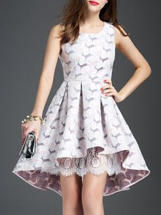 Asymmetric Printed Silk-blend Mini Dress