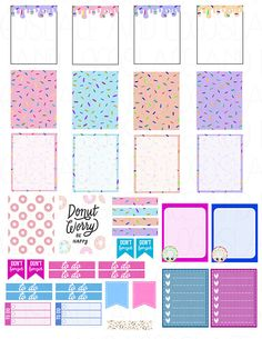 Printable Planner Stickers Donuts Sprinkles Cute by LaceAndLogos