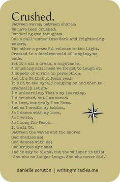 Crushed   danielle scruton   writingmiracles.me #poetry